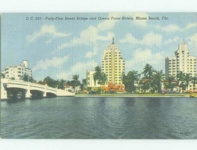 Unused Linen HOTELS AT BRIDGE Miami Beach Florida FL HQ9818
