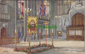 London Postcard - The Unknown Warrior's Grave, Westminster Abbey  RS25536
