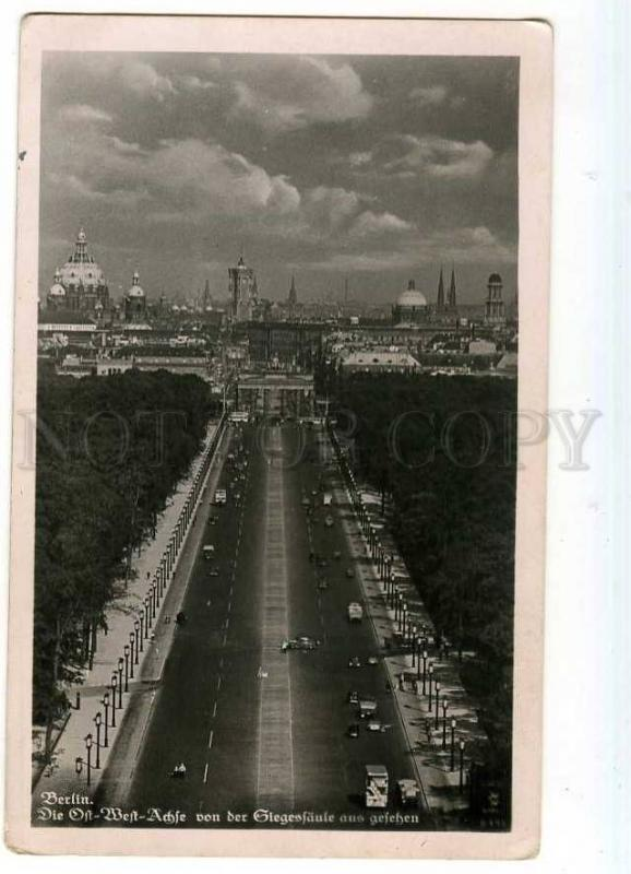 247415 GERMANY BERLIN air view Vintage photo postcard