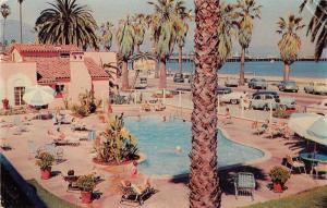 Santa Barbara California Ocean Palms Motor Lodge Swimming Pool PC JD933966