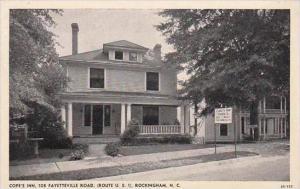 North Carolina Rockingham Cope's Inn