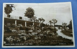 Vintage Real Photo Postcard Cliff Shelter Leigh - On - Sea Essex Posted 1935 C1C