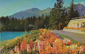 Canada The Gardens Jasper Park Lodge Canadian Rockies Jasper Alberta