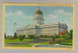 Utah State Capitol Building, Salt Lake City, unused Curteich linen Postcard
