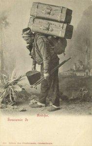turkey, CONSTANTINOPLE, Portefaix Porter (1899) Max Fruchtermann 310 Postcard