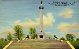 MS - Vicksburg. Vicksburg National Military Park, Wisconsin Memorial