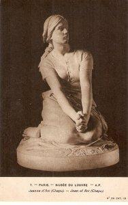 Jeanne d'Arc (Chjapu  Fine art,. sculpture, old vintage French postcard