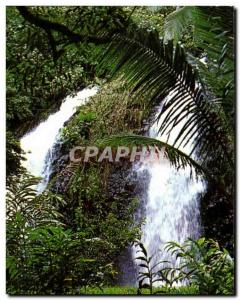 CPSM Double Water falls at Faaone Double Distrit Cascade Faaone Tahiti