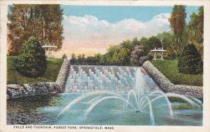 Massachusetts Springfield Falls And Fountain Forest Park 1924