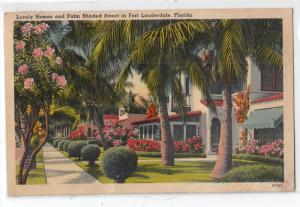 Homes & Palm Shaded St, Fort Lauderdale FL