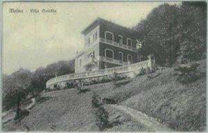 91042 - REGNO -  Annullo natante LOCARNO - ARONA su CARTOLINA di MEINA  1915