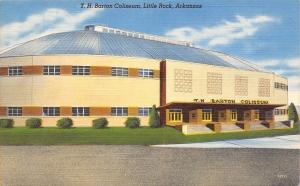 Little Rock Arkansas~TH Barton Coliseum~Sporting Events~1952 Linen Postcard
