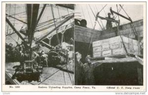Virginia, Camp Perry, Seabees unloading supplies , Navy - US Military pu 1944