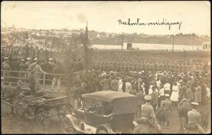brazil, CURITIBA, Unknown Military Parade on the 27th of May 1920 RPPC