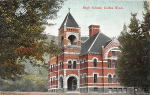G37/ Colfax Washington Postcard c1910 High School Building