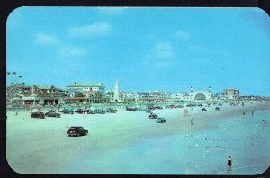 Florida ~ Beach Scene DAYTONA BEACH older cars - Chrome 1950s-1970s