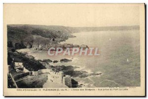 Postcard Old Emerald Coast Plevenon (C N) of L'Anse S?vign?s View from Fort l...