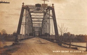 Grand Rapids Ohio Wagon Bridge Real Photo Vintage Postcard JJ658714