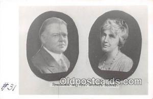 President & Mrs. Herbert Hoover