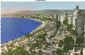 Nice, La Promenade des Anglais, 1957 used Postcard