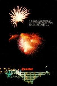 Oklahoma Tulsa Camelot Hotel With Fireworks Display 1981