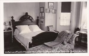 New York Hyde Park Bedroom Of Franklin D Roosevelt Home Real Photo