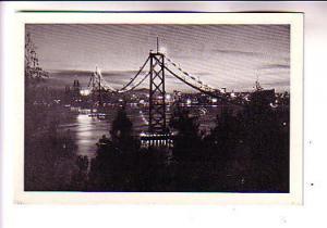 Small Sized Postcard, Bridge at Night, Oakland Bay, San Francisco California,