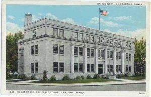 Court House for Nez Perce County in Lewiston, Idaho, ID, White Border
