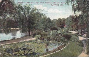 Ohio Dayton Lake And Lilly Pond National Military Home 1907