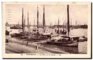 Bordeaux Old Postcard The harbor and docks