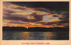 GURDON CLARK COUNTY ARKANSAS~GREETINGS FROM POSTCARD c1940s