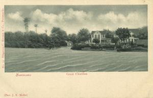 suriname, GROOT CHATILLON, View from the Water (1899)
