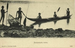 indonesia, MENTAWAI MENTAWEI, Native Young Boys in Canoe (1899) Postcard (1)