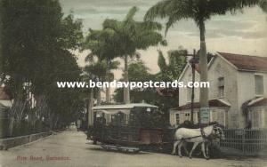 barbados, B.W.I., BRIDGETOWN, Pine Road, Horse Tram (1910s)