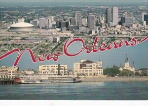 Louisiana New Orleans Skyline and Riverfront