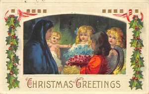 Christmas Post Card Postal used unknown