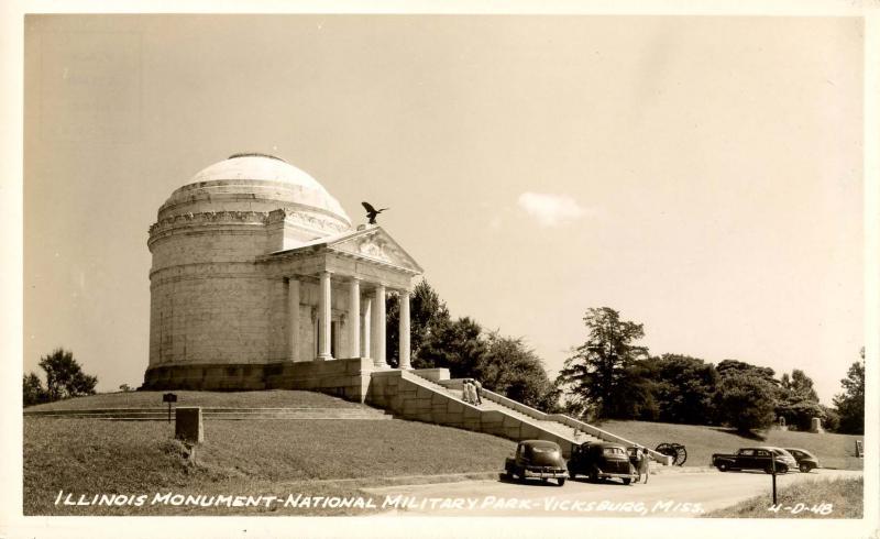 MS - Vicksburg. Vicksburg National Military Park, Illinois State Monument.   ...