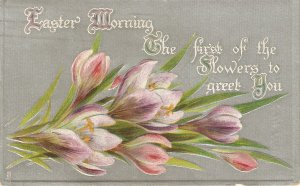 Beautiful Flowers Tuck Silver Flowers Series. Of Easter PC #  754