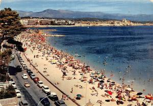 France Antibes La Plage de la Salice, The Beach Cars Voitures
