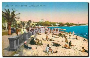 Old Postcard Juan les Pins Beach, and Pinede