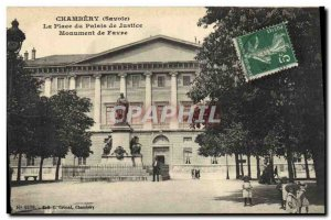 Old Postcard Chambery Place Courthouse Monument Favre