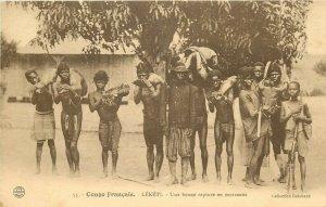 French Congo LEKETI une bonne capture en morceaux natives hunters Central Africa