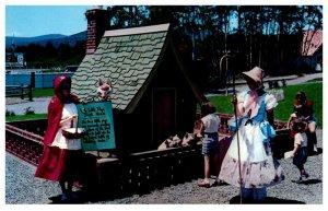 New York Lake George Storytown  3 Little Pigs Brick House