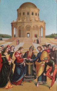 La Sposalizio della Vergine Raffaello Milano