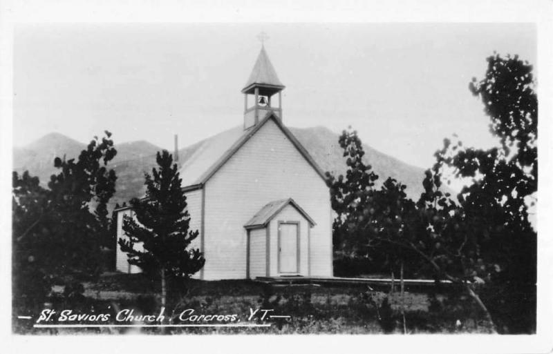 Carcross Yukon Territory St Saviors Church Real Photo Antique Postcard K54881