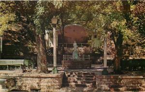 Eureka Springs AR~Basin Spring Park~Bandshell~WWI Doughboy Solider Monument~1957