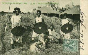 PC CPA LIBIA, VILLAGGIO EPITREO, Vintage Postcard (b16620)
