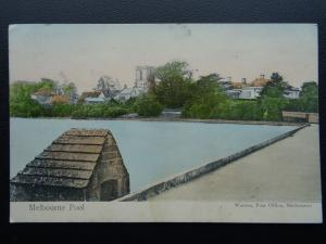 Derbyshire MELBOURNE POOL c1902 Postcard by Warren of The Post Office Melbourne