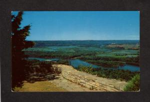 WI Lookout Point Wyalusing State Park near Prairie du Chien Wisconsin Postcard