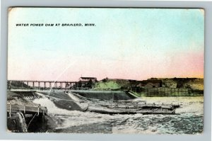 Brainerd MN-Minnesota, Water Power Dam, Vintage Postcard
